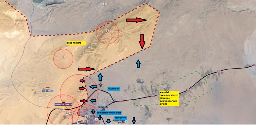 Battaglia di Palmira, il fronte nord 25-03-2016