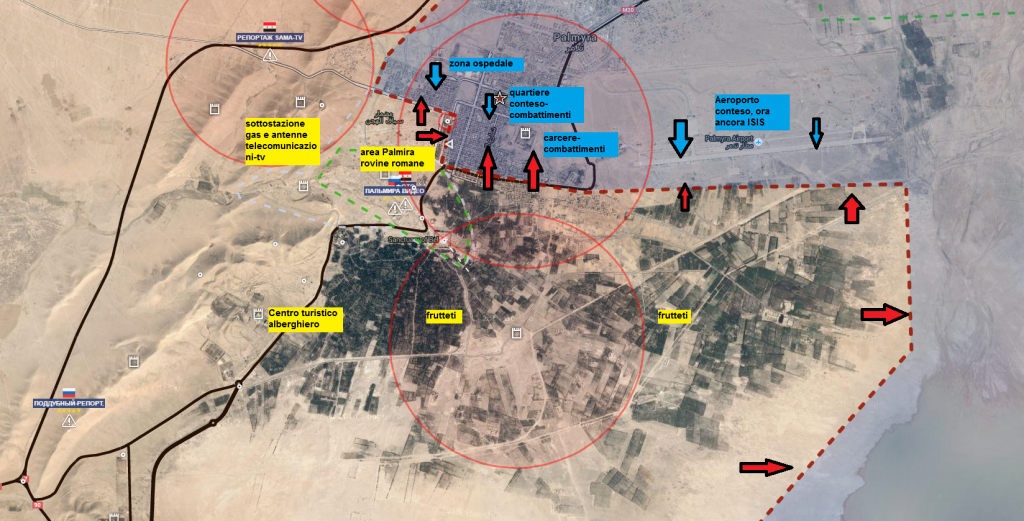 Battaglia di Palmira, il fronte sud 25-