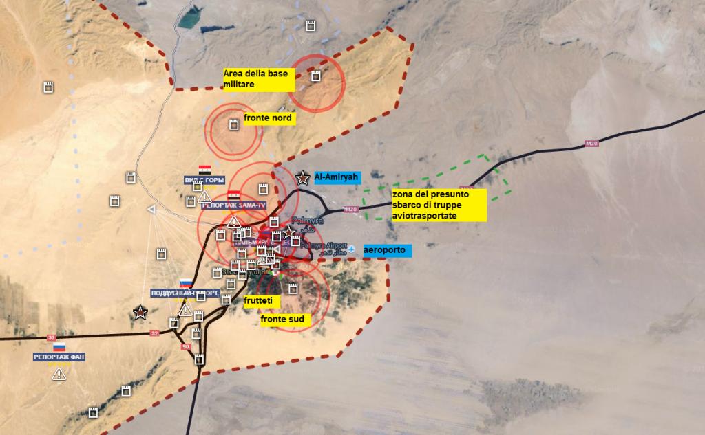 Battaglia di Palmira, la situazione complessiva 25-3-2016