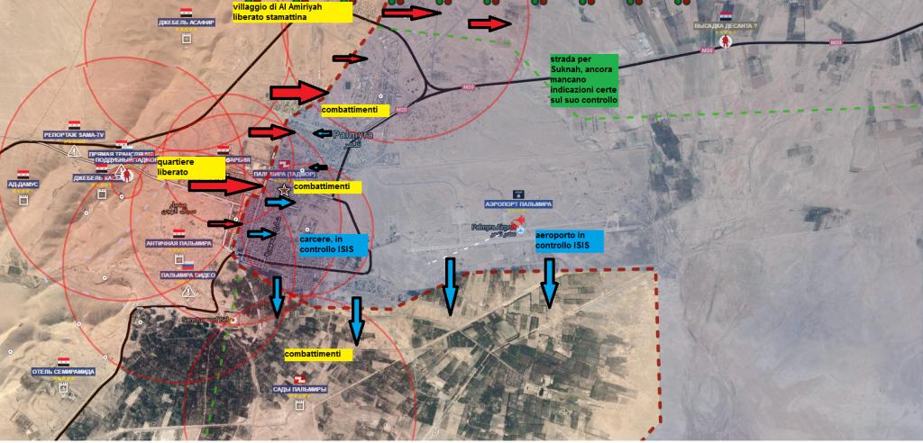 Battaglia per Palmira, situazione ore 15.00 del 26-marzo-2016