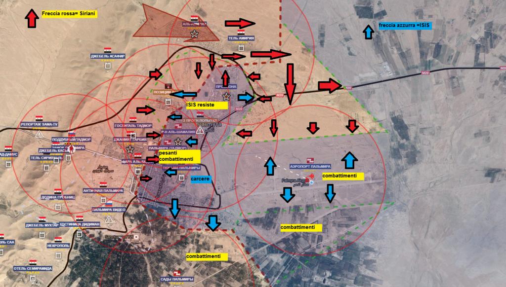 Battaglia per Palmira, situazione ore 20.00 del 26-marzo-2016