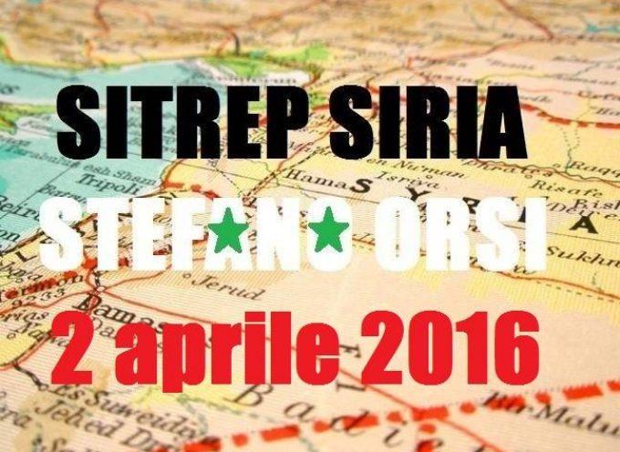Situazione operativa sui fronti siriani del 2 Aprile 2016