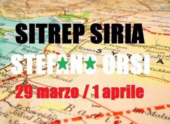 Situazione operativa sui fronti siriani dal 29 Marzo al 1 Aprile 2016