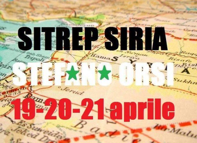Situazione operativa sui fronti siriani del 19, 20, 21 Aprile 2016