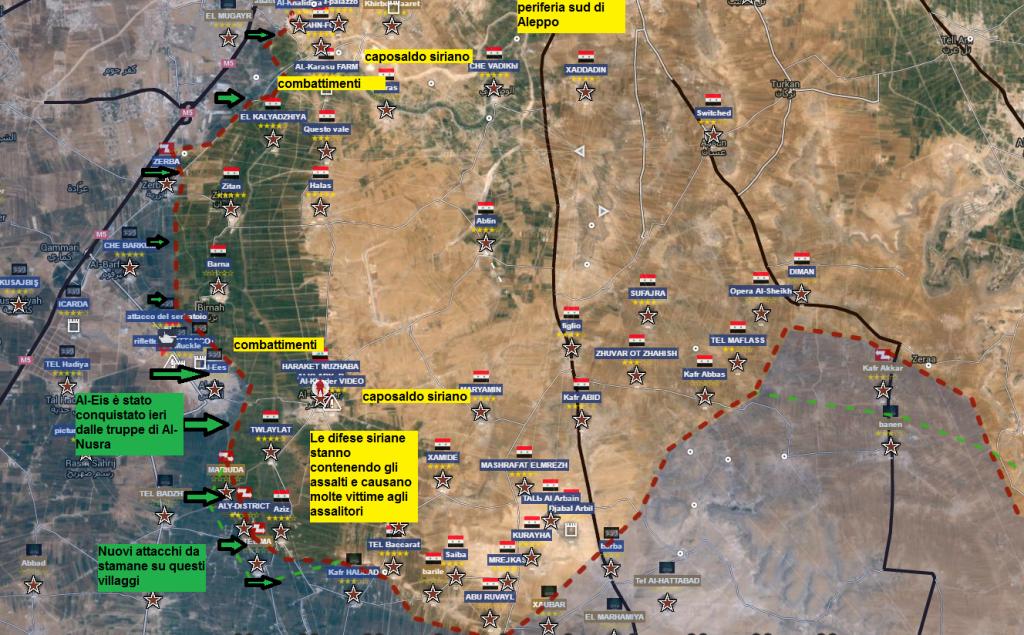 Aleppo fronte sud 3-4-2016