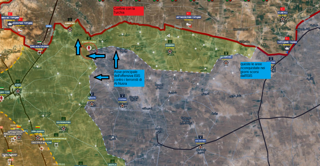 Aleppo il fronte nord, 14-4-2016