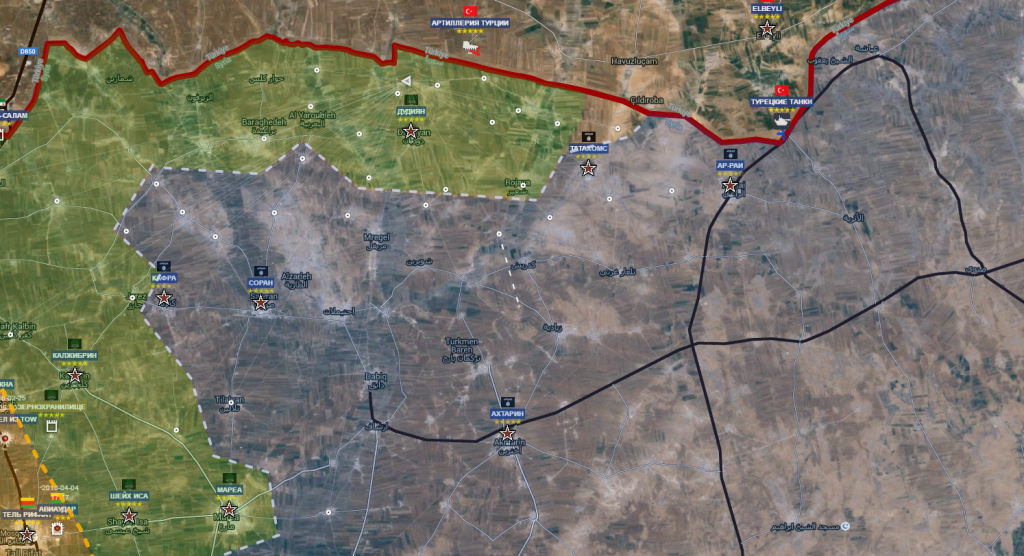 Aleppo nord , confine turco 12-4-2016