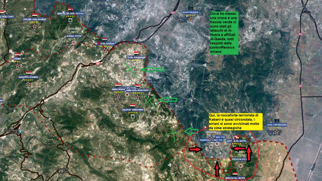 Latakia, i fronti 21-4-2016