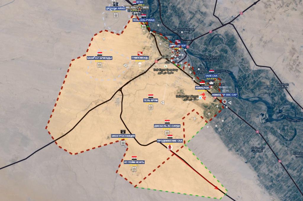 Deir Ezzour prima dell'offensiva ISIS il giorno 13-5-2016