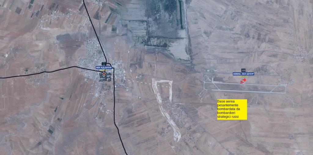 Provincia di Idlib, bombardamento su base aerea di Abu Duhur