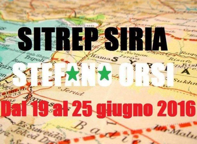 Situazione operativa sui fronti siriani dal 19 al 25-6-2016