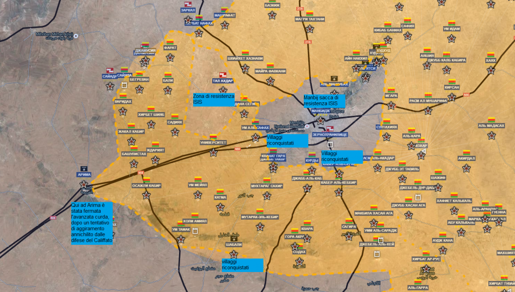 Aleppo nord fronte curdo 16-6-2016