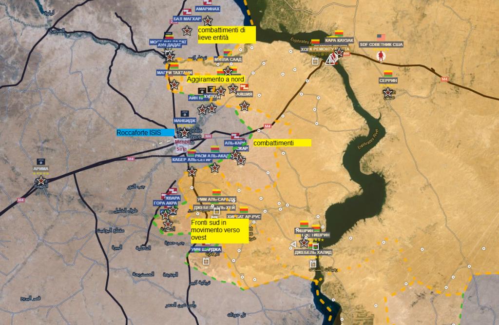 Fronte curdo nord est di Aleppo 6-6-2016