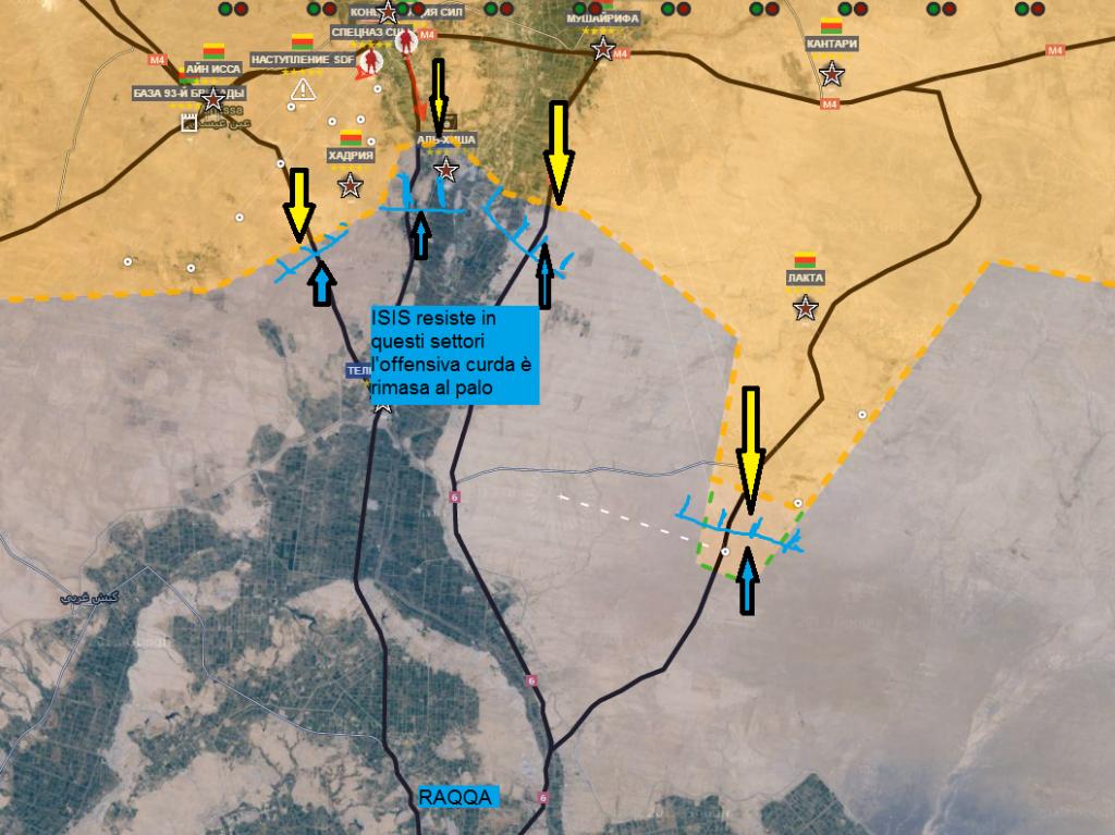 Fronte curdo verso Raqqa 2-6-2016