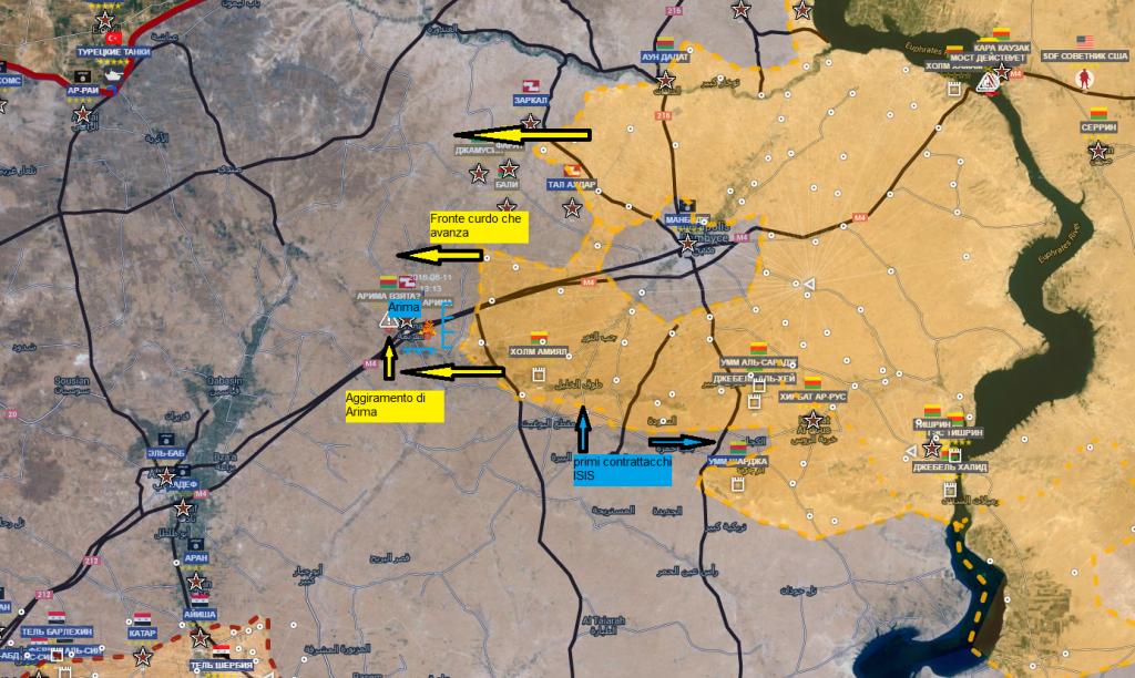 Fronte curdo a nord di Aleppo 11-6-2016