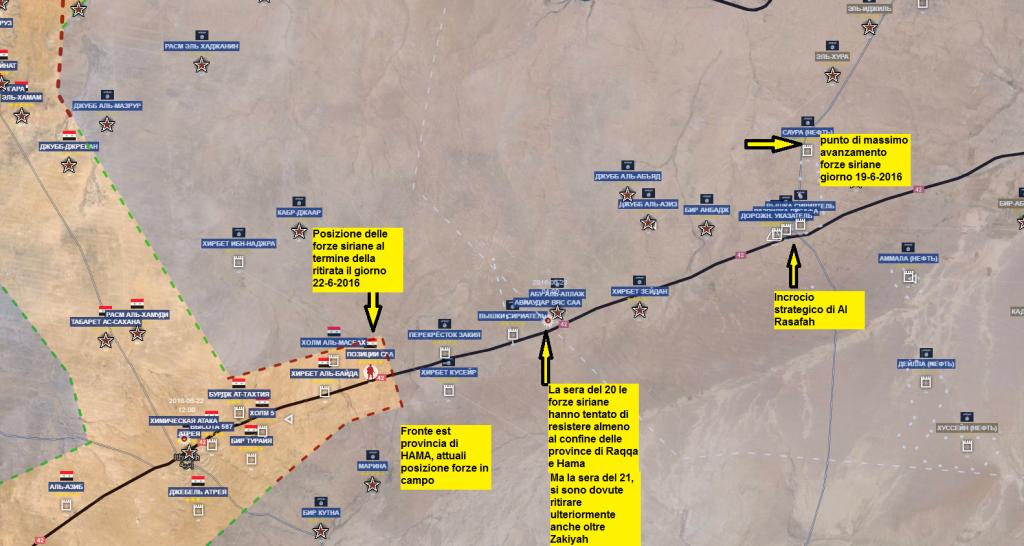 Ritirata dalla provincia di Raqqa dal 19 al 22-6-2016