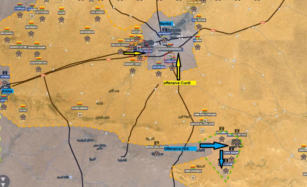 Fronte curdo a nord di Aleppo 25-6-2016