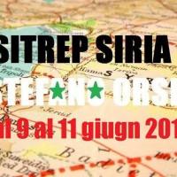 Situazione operativa sui fronti siriani dal 9 al 11 giugno 2016
