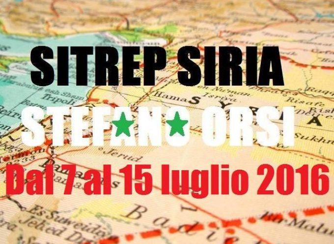 Situazione operativa sui fronti siriani, dal 7 al 15 Luglio 2016