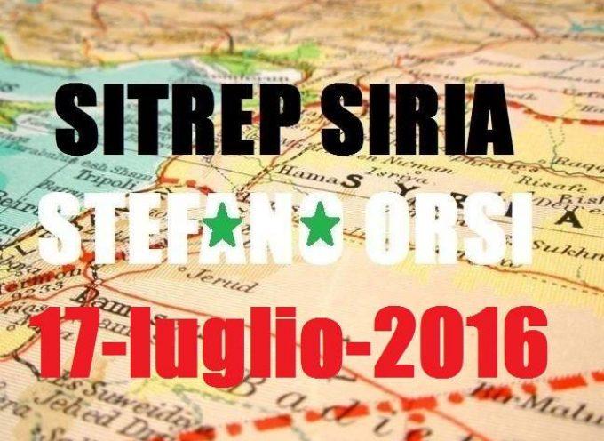 Situazione operativa sui fronti siriani del 17 Luglio 2016