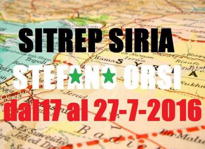 Situazione operativa sui fronti siriani del 27 Luglio 2016