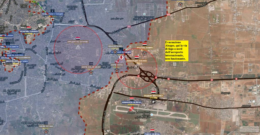 Aleppo la via aperta per i civili in fuga e i terroristi che si dovessero arrendere. 27-7-2016