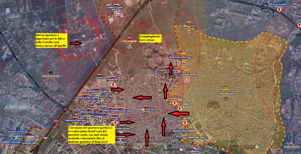 Aleppo, il ricongiungimento delle forze siriane 28-7-2016