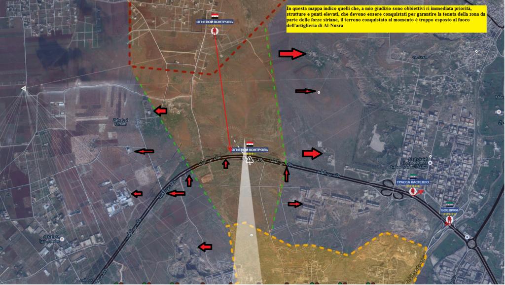 aleppo nord , dettagli per l'oofensiva sulla Castillo road, alcuni puntoi strategici da catturare per impostare le difese 7-7-2016