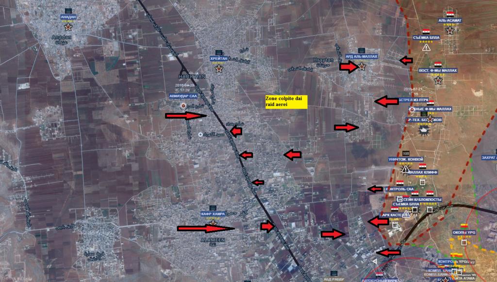 Aleppo nord ovest i raid aerei sui terroristi 27-7-2016
