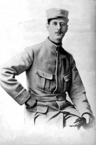 il giovane Charles De Gaulle al tempo della prima guerra mondiale