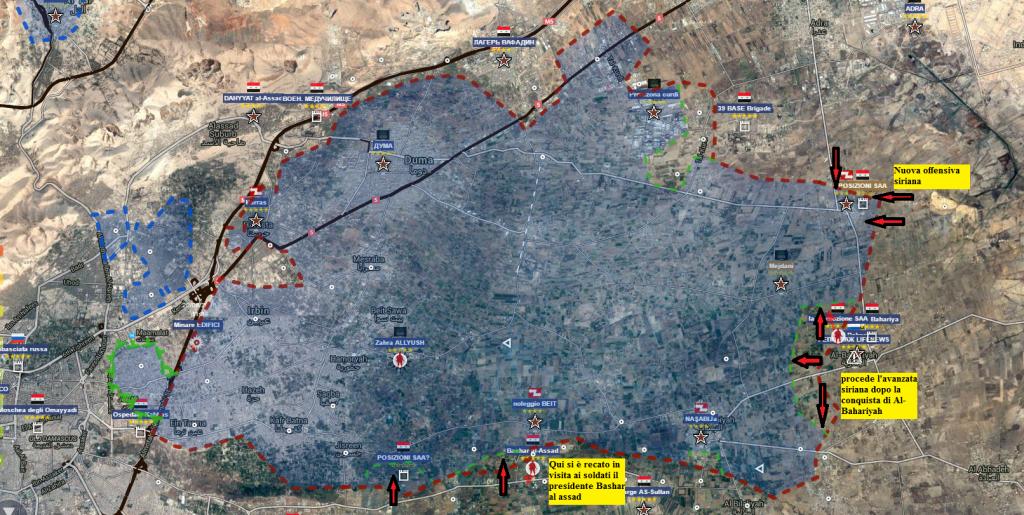 Est-Goutha, 1-2-07-2016 le offensive siriane da est