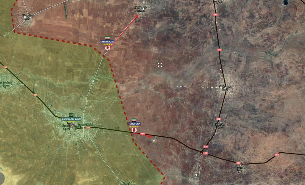 Provincia di Daraa fronte sud siriano 15-7-2016