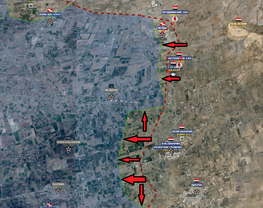 Sacca del Goutha est l'avanzata siriana del 7-7-2016