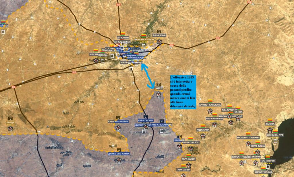 Fronte Curdo-ISIS, la battaglia di Manbij 15-7-2016