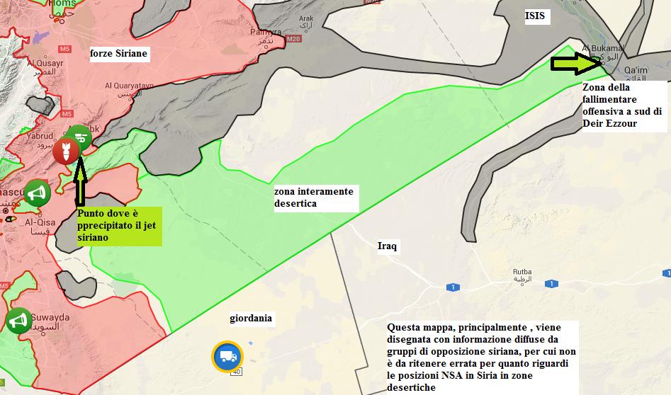 NSA in Siria, zona di confine con la Giordania, da cui si sono introdotti in Siria, presumibilmente, e con Iraq