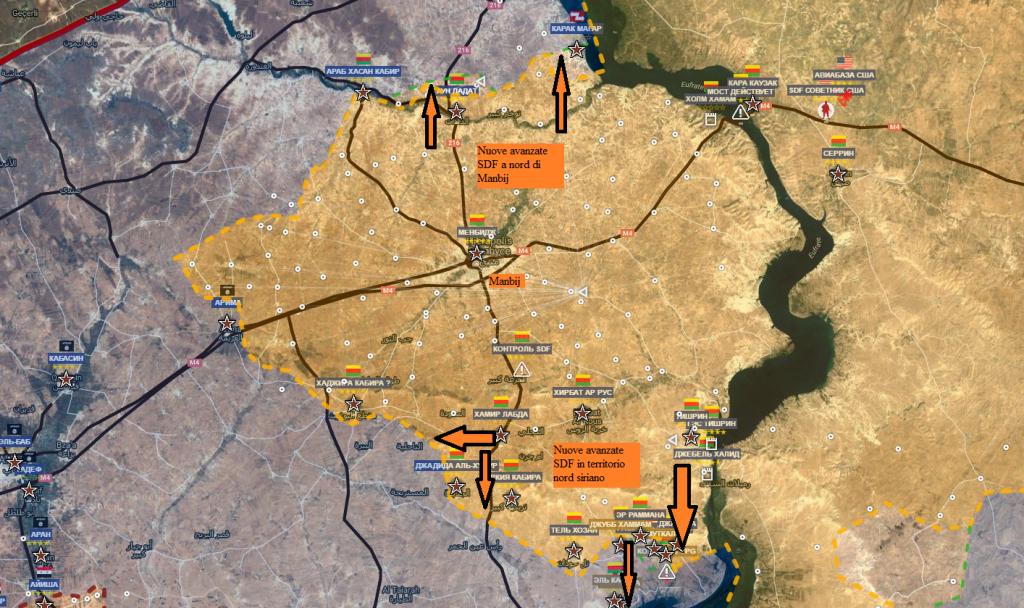 Fronte curdo a nord di Aleppo 21-8-2016
