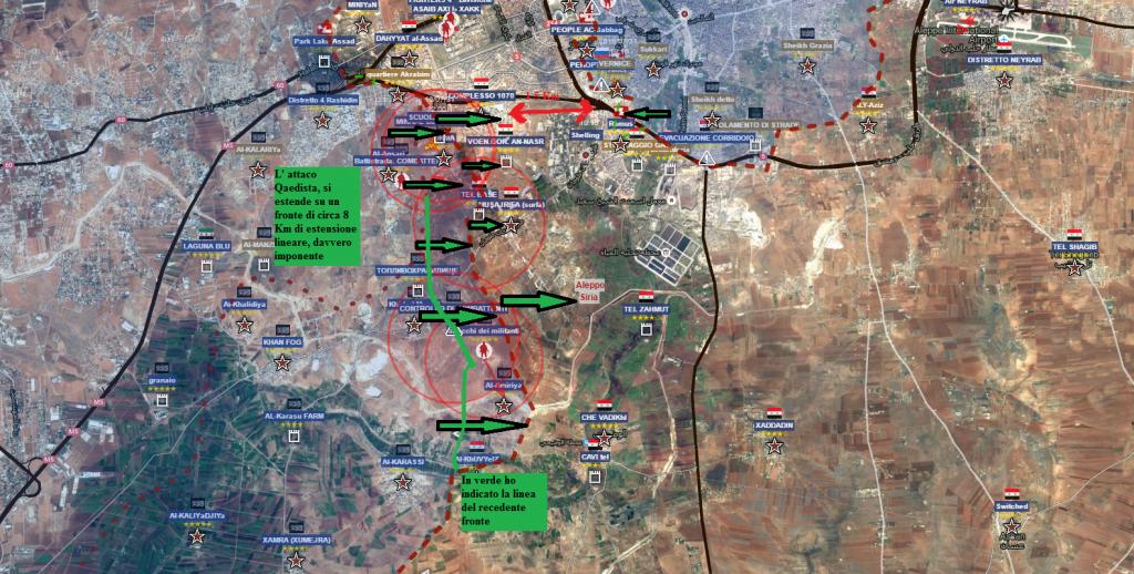 Aleppo sud, la battaglia per rompere l'assedio di Aleppo est 31-7-2016