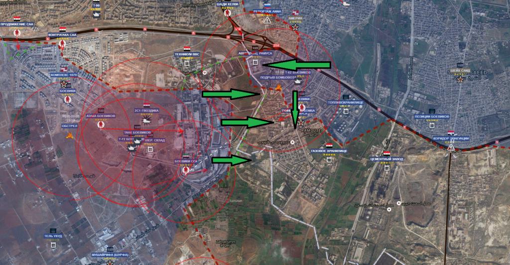 Aleppo sud la sera del giorno 6-8-2016