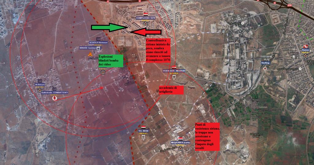 Aleppo sud particolare della battaglia 31-7-2016