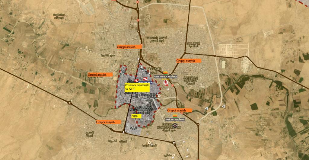 Asakah, attuali posizioni durante la tregua 26-8-2016