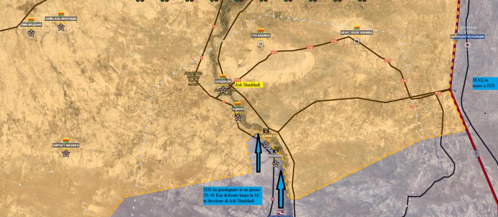 Asakah sud , offensiva Daesh 26-8-2016