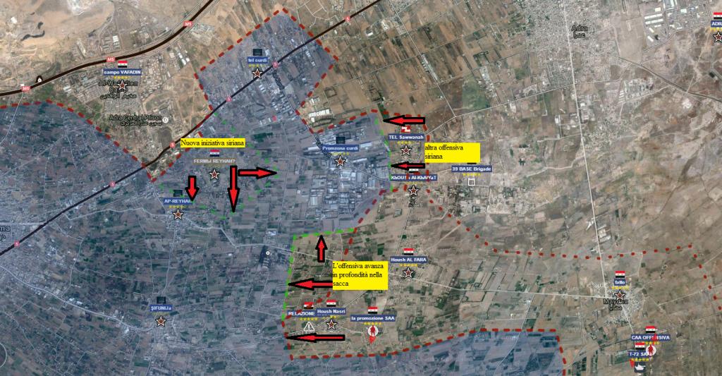 Goutha est , particolare dell'attuale offensiva siriana 26-8-2016
