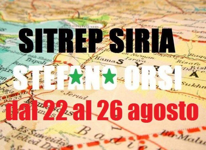 Situazione operativa sui fronti siriani dal 22 al 26 Agosto 2016