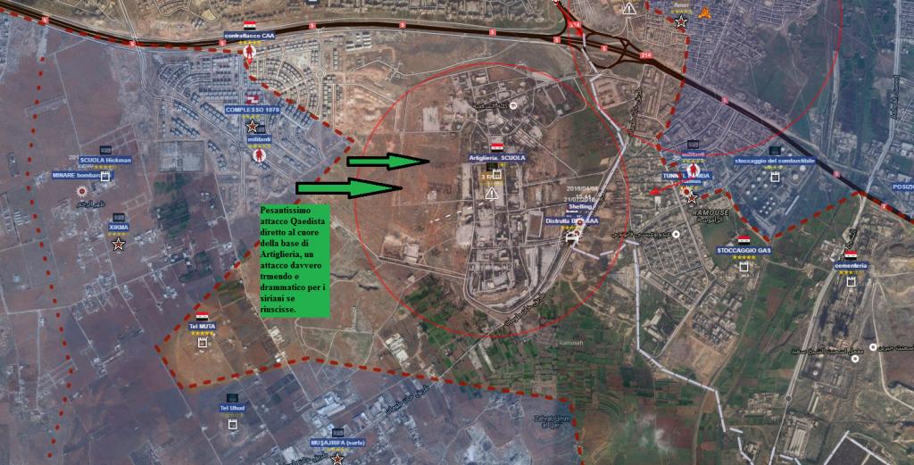 Aleppo sud situazione alla sera del giorno 5 agosto 2016