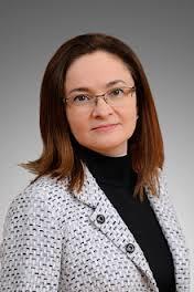 Elvira Sakhipzadovna Nabiullina, nata il 29 ottobre 1963.