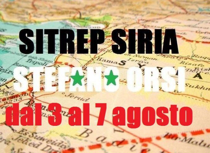 Situazione operativa sui fronti siriani dal giorno 3 al 7 agosto 2016