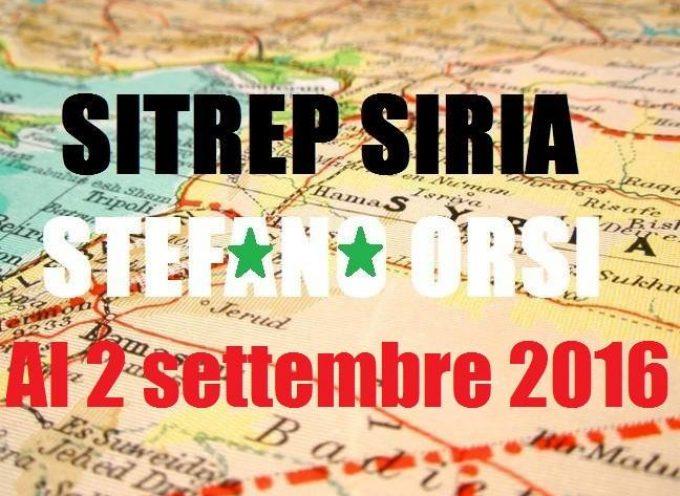 Situazione operativa sui fronti siriani al 2 Settembre 2016