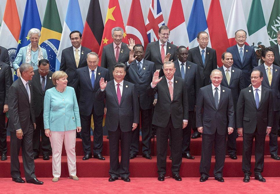 Fotografia dei capi delle delegazioni degli Stati del G20