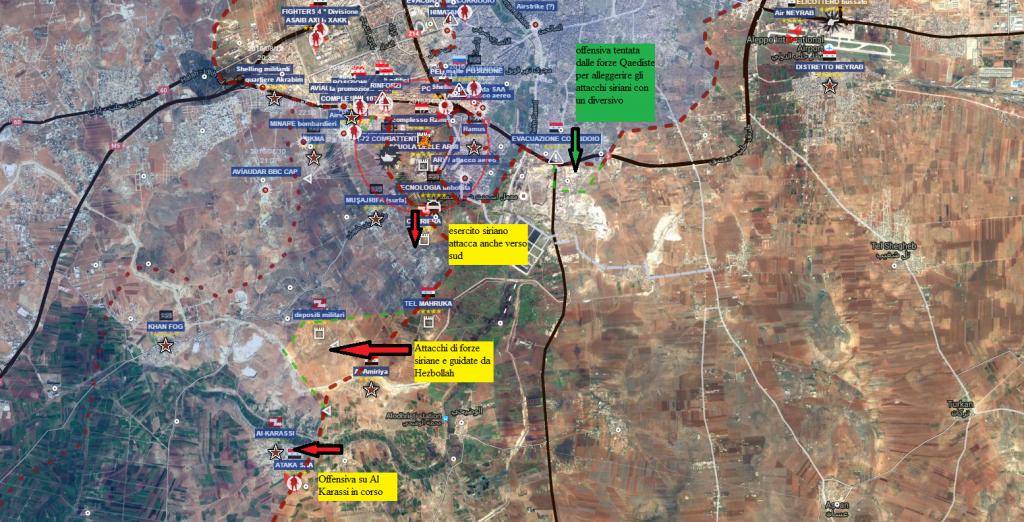 Aleppo sud , il quadro generale 4-9-2016
