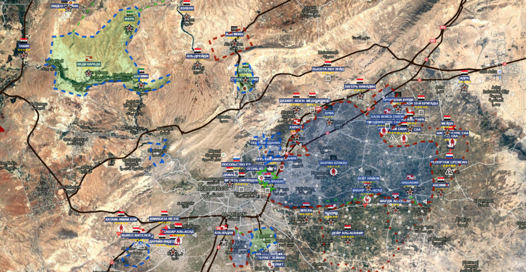 Damasco 12-9-2016 provincia e sacche terroristi e ribelli